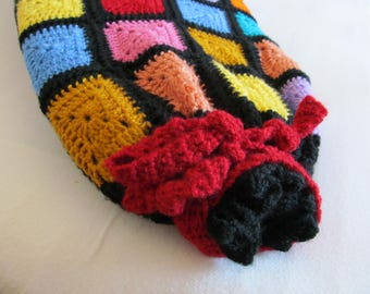 SURF BOARD SOCK crochet rosette