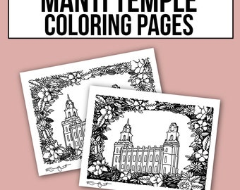 Manti Temple Coloring Pages