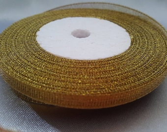 "Ribbon ""gold / shiny"" 6mm"