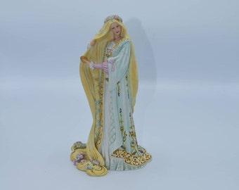Lenox Rapunzel Figurine Vintage The Legendary Princesses Collection Fine Porcelain Japan Figure Fairy Tale Princess Gift for Her