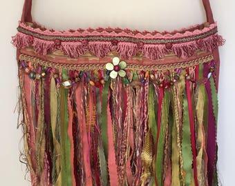 Shoulder/Cross body Bag, Boho Bohemian Hippie Style