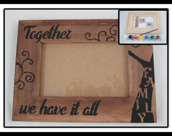 Diy craft kit etsy for Decorate your own picture frame craft