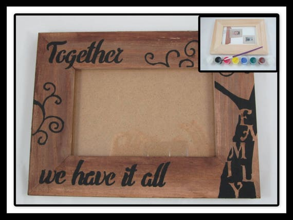 DIY Craft Kit - DIY Picture Frame - Decorate Your Own Wooden Picture ...