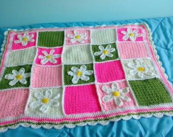 Daisy baby girl Afghan made to order