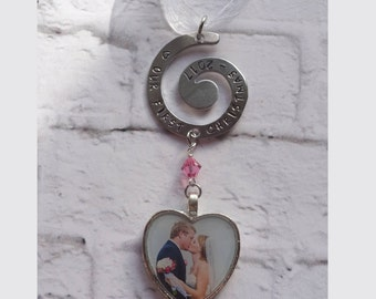 Photo First Christmas Ornament - Bride and Groom - Newlyweds - Wedding