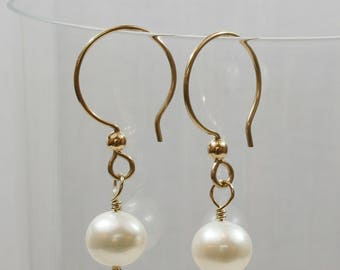 Freshwater Pearls, Gold Fill Earrings FREE SHIPPING
