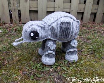 All Terrain Armored Transport Walker Amigurumi. Crochet AT-AT Walker.  Star Wars Walker Plushie. Made to Order.