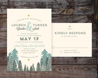 Outdoorsy Invitations, invitation templates, Mountain Wedding Invitations, outdoor Wedding Invitations, DIY Wedding Invitations, vintage