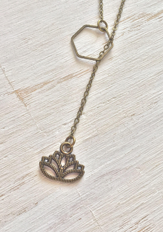 Bronze lotus flower slip on lariat necklace y necklace long gallery photo gallery photo gallery photo gallery photo gallery photo izmirmasajfo Images