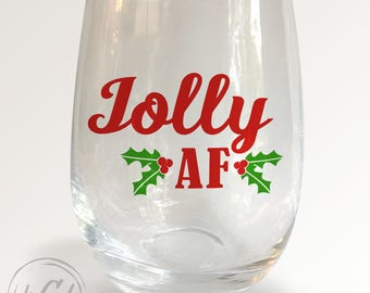 Jolly AF Stemless Wineglass