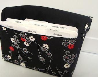 Coupon Organizer /Budget Organizer Holder  / Attaches To You Shopping Cart - Zen Blossom