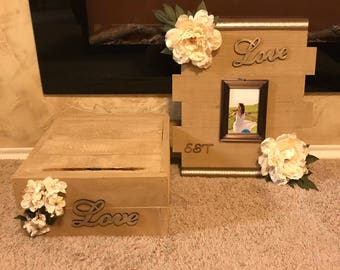 Customized cake stand and love frame