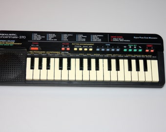 Realistic Concertmate 370 / Casio SA-8 Keyboard Synthesizer Vintage 1980s