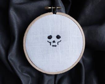 Skull Halloween Decor Embroidery Art
