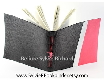 Black Leather Notebook - personal diary -  travel book - soft bookbindings for sketches, drawings, poems, stories, calligraphy ...