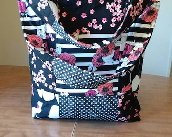 Quilted Black Floral Purse SALE!