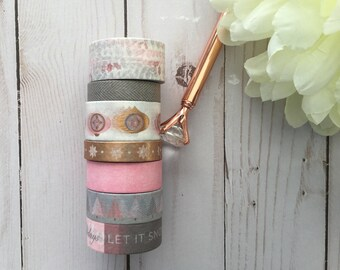 "Limited Edition Pretty In Pink Christmas Washi Tape Samples | 24"" sample"