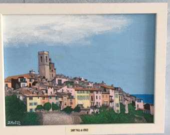 Acrylic painting from vacation (Saint Paul de Vence)