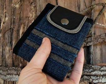 Handmade, Personalized, Jeans Wallet, Bifold Denim Wallet, Vegan Friendly, Mens Wallet, Womens Wallet, Billfold Wallet, Coin Pocket, UNUSUAL