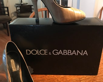 Dolce and Gabbana Ell skind pumps