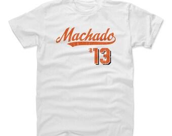 Manny Machado Shirt | Baltimore Baseball | Men's Cotton T Shirt | Manny Machado Script O