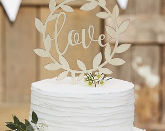 Wooden Love Cake Topper,wedding cake toppers,engagement cake toppers