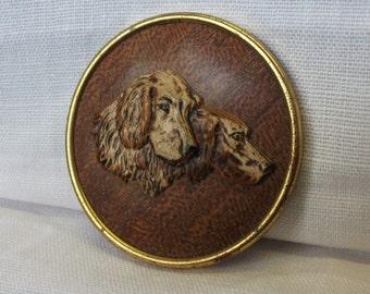 Vintage 1940's Dog Retriever Brooch