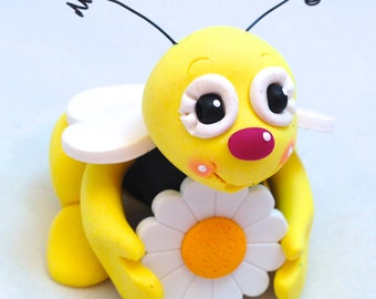 Bumble Bee Polymer Clay Bug Sculpture