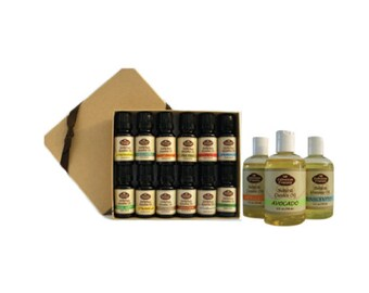 Combo Set (Includes 12/10 ml Pure Essential Oils and 3/4 oz Carrier Oils)
