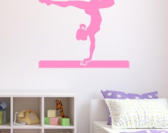 More Colours. Gymnast Wall Sticker, Gymnastics Wall Decals ...