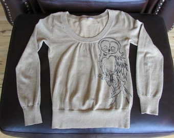 Women's Gold Owl Extra Small Sweater