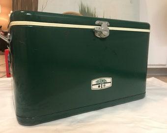 Vintage Thermos Metal Cooler Green