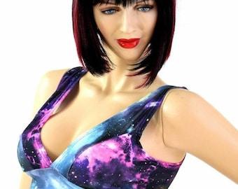 UV Glow Galaxy Print Starlette Bralette Spandex Rave Festival Clubwear 154580