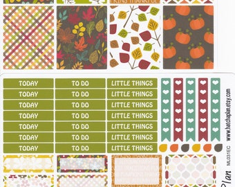 Fall Flowers Planner Stickers | Fall Planner Stickers | Autumn | Fits Erin Condren Life Planner | Fits Happy Planner | Weekly Kit | ML031