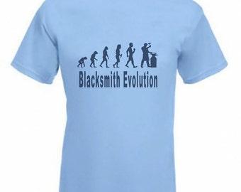 Evolution to Blacksmith t-shirt Funny T-shirt sizes S TO 2XXL