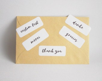 Thank you stickers, Custom stickers, Envelope stickers, Thank you labels, Custom labels, Packaging stickers, Envelope seals, Thank you tags