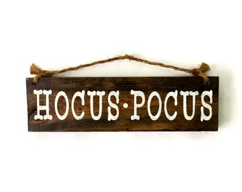 Hocus Pocus Wood Sign / Halloween Decor / Office Decor / Bohemian Wall Decor / Gifts for Her / Fall Wall Decor / Witch Sign