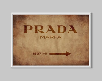 Prada Marfa Vintage Vogue Fashion Lifestyle Canvas Print Poster