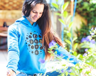 Yoga hoodie Love yoga Yoga girl Happy yogi Gift for yogi Organic cotton