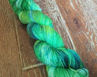 Hand Dyed Superwash Merino Nylon Sock Yarn, 100g/3.5oz, 'Lettice'