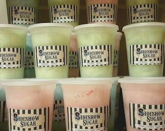4 tubs of Freshly Spun Cotton Candy