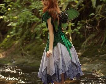 Delphinium Fairy Dress, Adult Fairy Costume, Elvish Clothing, Festival Outfit, Theater Costume, Halloween Costume, Renaissance Costume