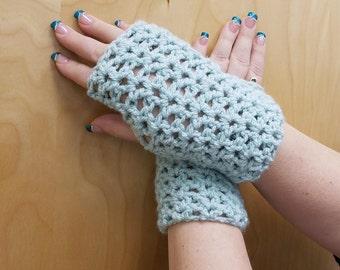 Fitted Hand-crocheted Fingerless Gloves