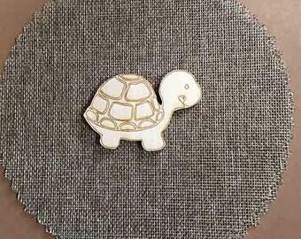 Set of 20 Baptism wooden bomboniere accessories -  The little turtle