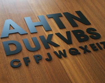 Acrylic Letters AvantGarde - Home Address - Office Plaque Signs - Wall Door Decoration - Custom Name Text - Black White Gold Silver