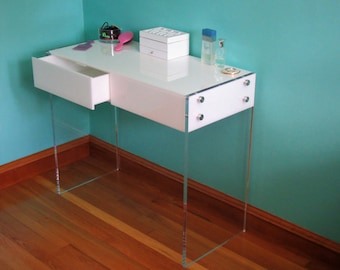 New Acrylic- Lucite  Vanity Table