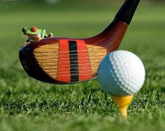 Golf Art, Driver, Frog Art, Golfing Photo