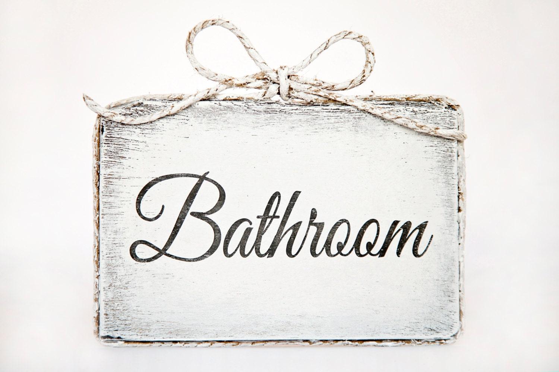 Cute handmade wooden bathroom door sign Bathroom / Home