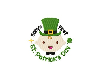 St. Patrick's Day Machine Embroidery Design, Baby, Leprechaun - Instant Download - Multiple Formats -