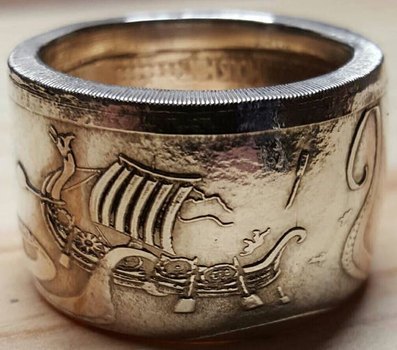 Kraken Silver Coin Ring